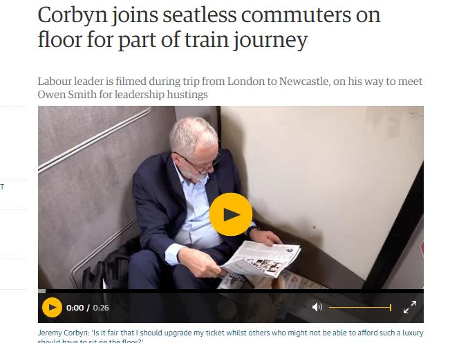 Guardian misled readers after treating 'gonzo news release' about Corbyn on train as journalism