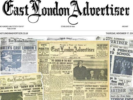 East London Advertiser turns 150: 'The East End is the best news patch in the capital' says reporter
