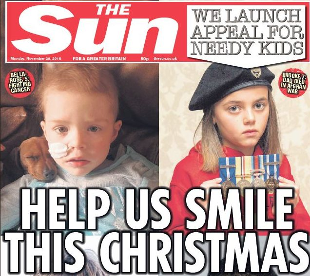 Sun launches Christmas toy appeal for children forced to flee Mosul