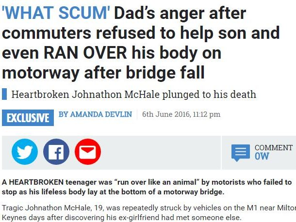 Sun 'ok' to take pictures and comments from grieving