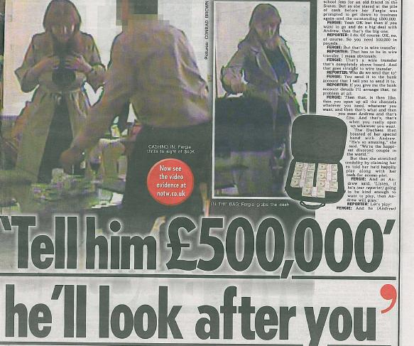 Sarah Ferguson seeking £25m over Mazher Mahmood sting on cash for access to Andrew