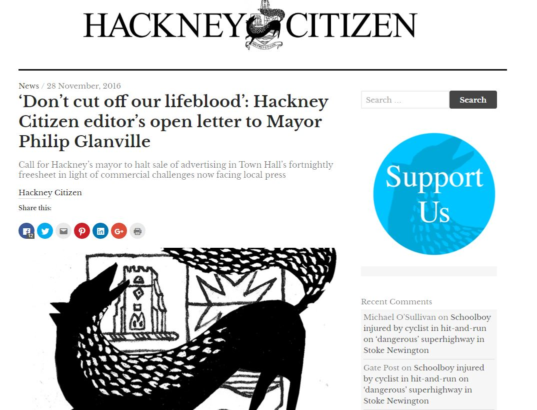 Independent London newspaper urges council-run title to stop cutting of its lifeblood by selling ads