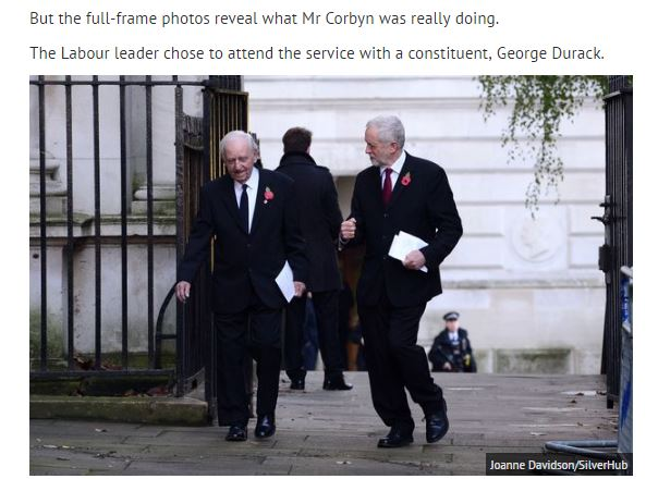 Sun and Mail Online both take down stories claiming Jeremy Corbyn was 'dancing a jig' on way to Cenotaph
