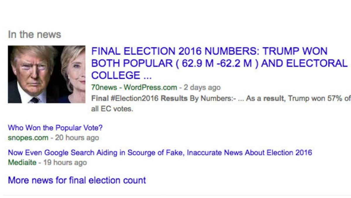 Google and Facebook reveal plans to stop ad support for fake news websites after US election concerns