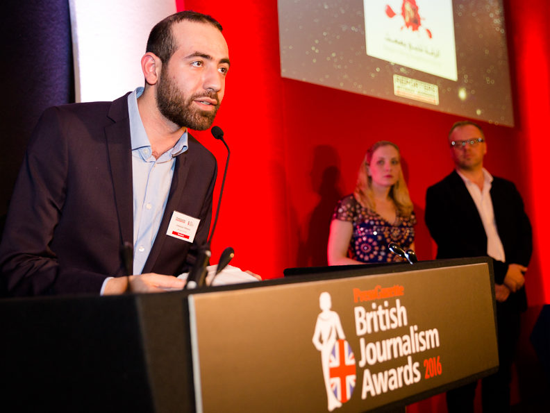 Syrian citizen journalists honoured at British Journalism Awards - 'Our work shows we can fight arms with words'