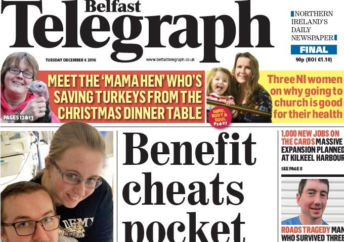 Dad who complained son was portrayed as a 'Nazi' in Belfast Telegraph report has complaint rejected by IPSO