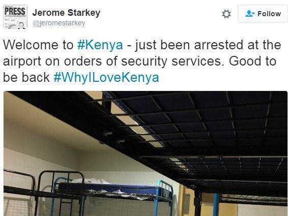 Times journalist Jerome Starkey detained at Nairobi airport