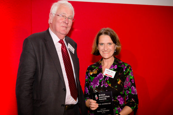 Rachel Sylvester of The Times 'thrilled to be vindicated' at British Journalism Awards after Leadsom 'gutter journalism' jibe