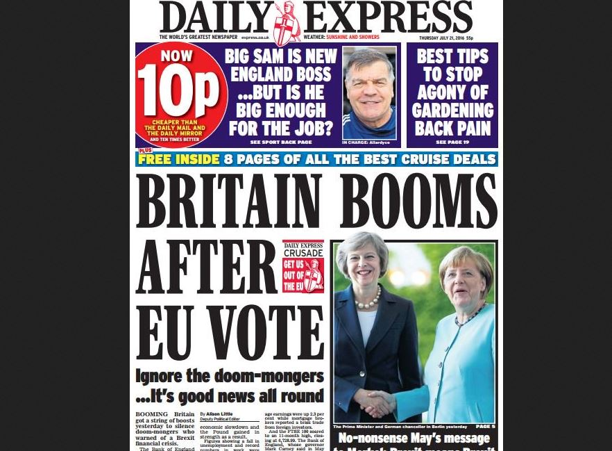 No sign of post Brexit vote 'boom' for Express staff who see tenth year without a pay rise