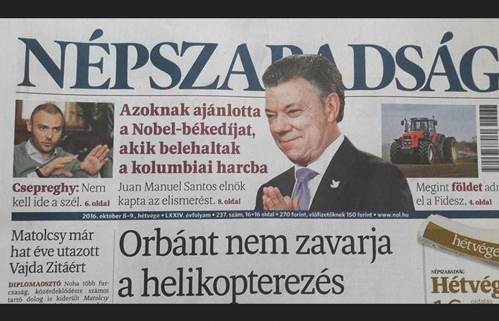 Fears Hungary no longer has neutral newspaper voice after closure of independent daily Nepszabadsag