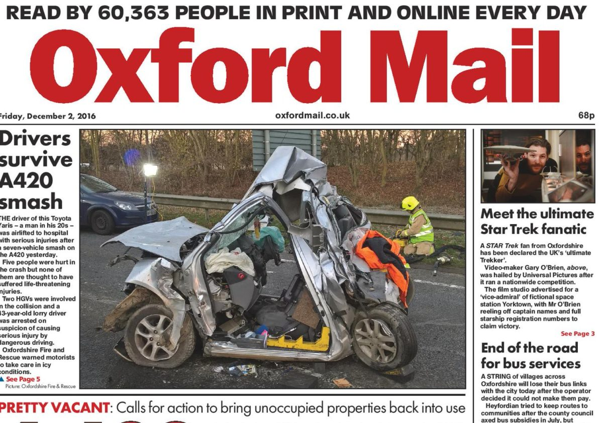 'Write to shape' technology sees 12 editorial jobs cut at Newsquest in Wiltshire and Oxford