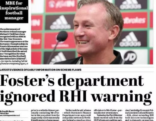 Belfast News Letter 'vindicated' by messages of support after 'boycott call' over RHI scandal coverage