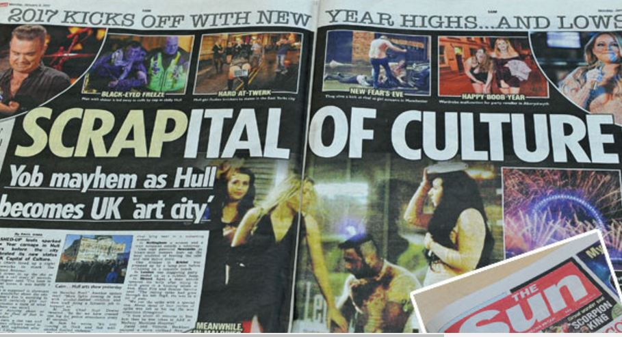 The Sun is 'baffled' by backlash over its 'accurate account of events in Hull on New Year's Eve'