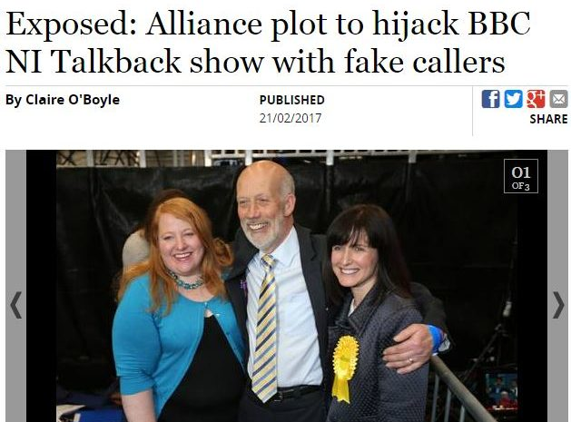 Belfast Telegraph exposes political PR plot to 'hijack' BBC radio phone-in show
