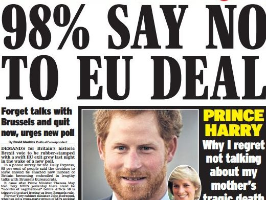 Daily Express forced to run second front-page correction over pro-Brexit coverage in space of a week