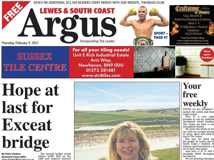 Newsquest launches second free weekly Argus edition to compete with Johnston Press titles in Sussex
