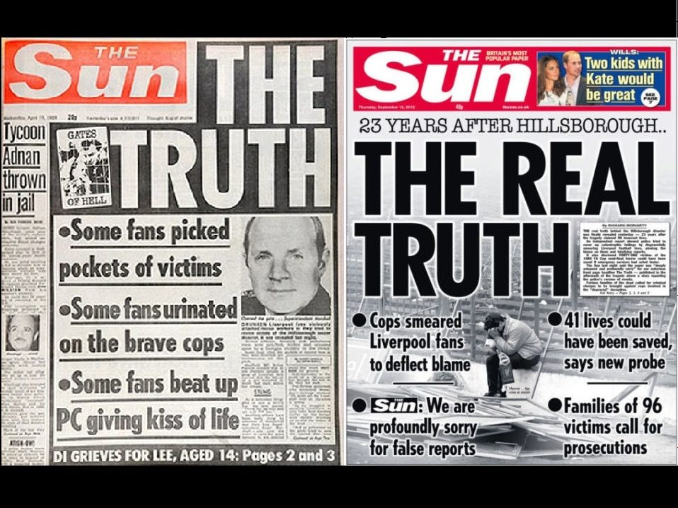 Liverpool FC bans Sun reporters as title says it 'deeply regrets' coverage of Hillsborough tragedy