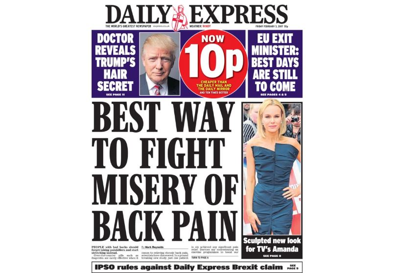 Daily Express 'EU boost to house prices' front page 'seriously inaccurate' says IPSO