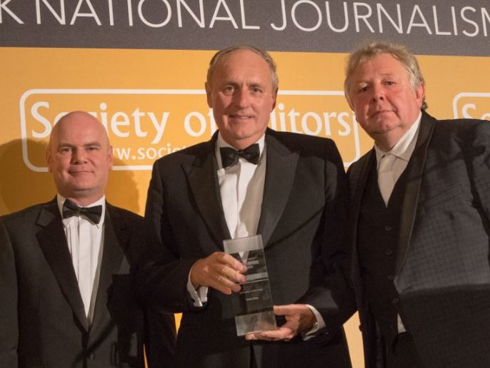 Daily Mail Brexit coverage praised as it is named Press Awards Newspaper of the Year for 2016