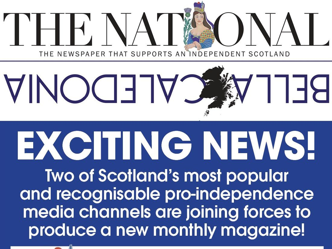 Scottish daily The National launches monthly magazine in association with website Bella Caledonia
