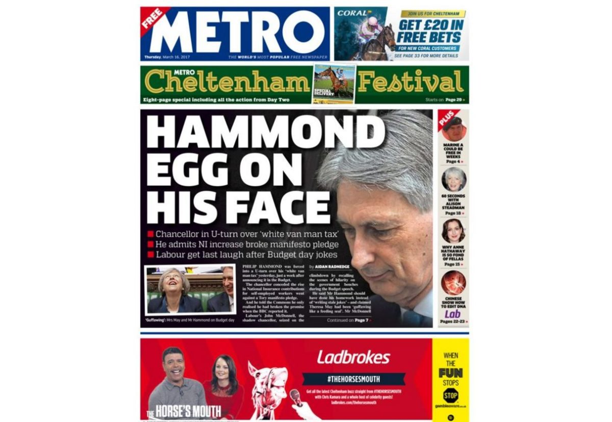 Metro's free circulation overtakes Daily Mail and is within 30,000 of The Sun on weekdays
