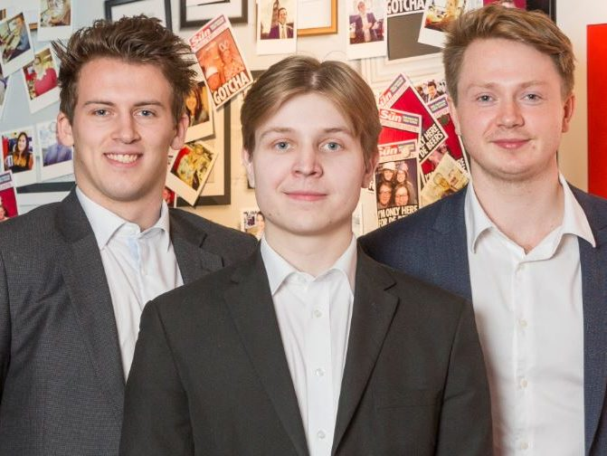 Three journalism apprentices begin their NCTJ training with The Sun