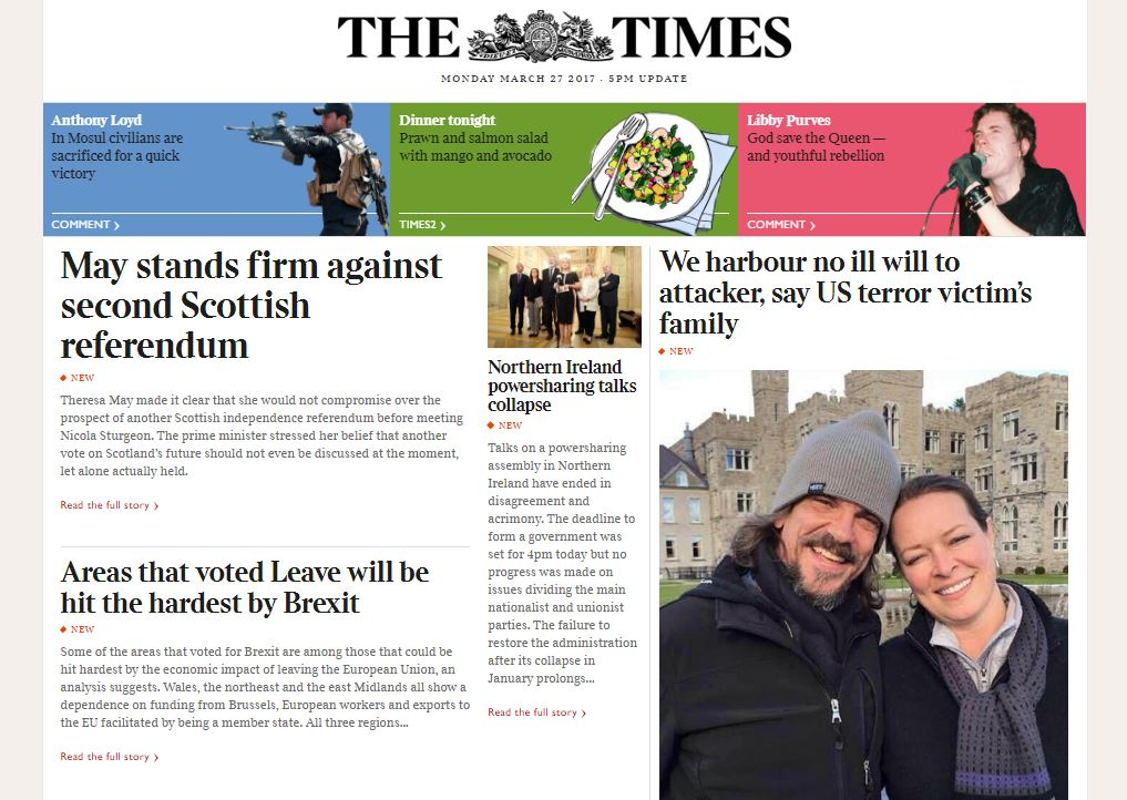 Times titles claim boost to subscriber numbers after move away from breaking news online