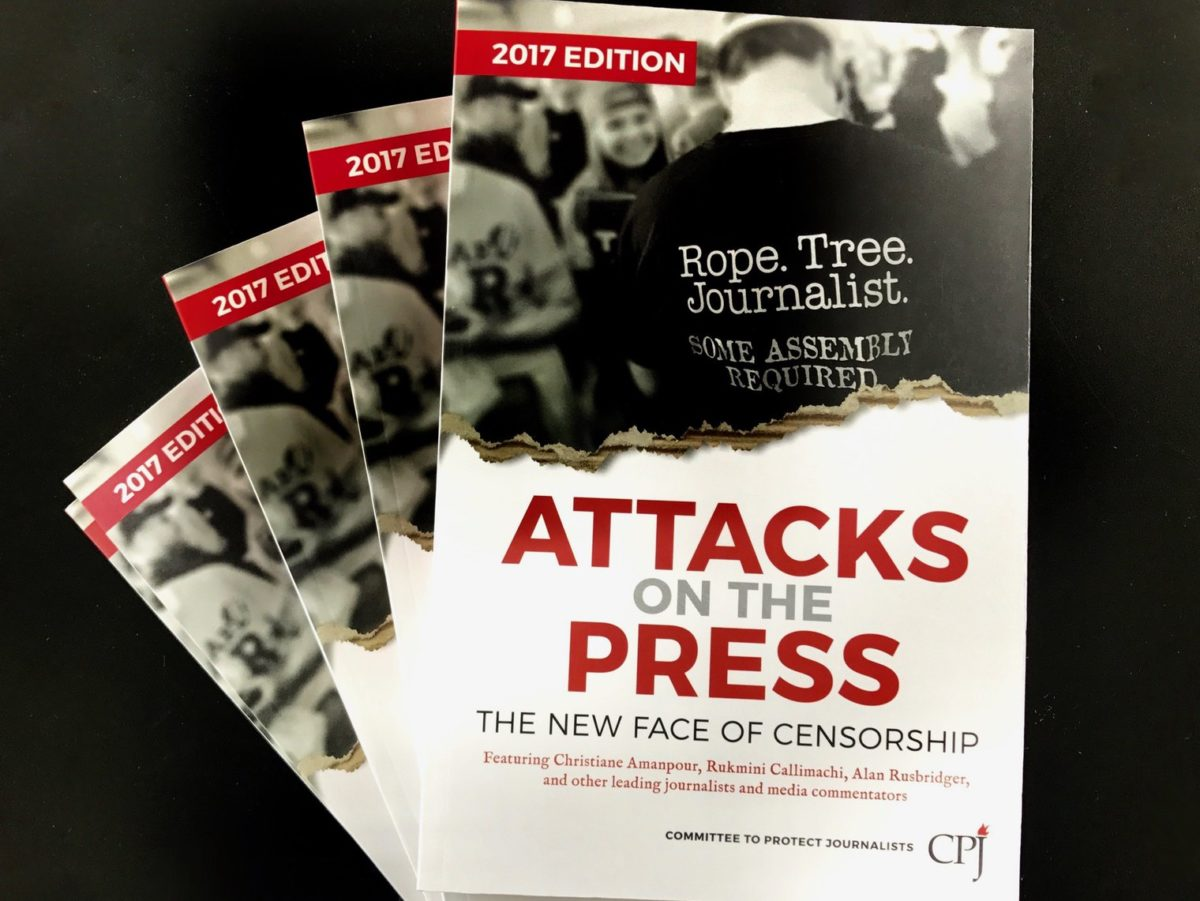 CPJ warns of 'tremendous gaps in our knowledge of the world' due to growing global attacks on journalists