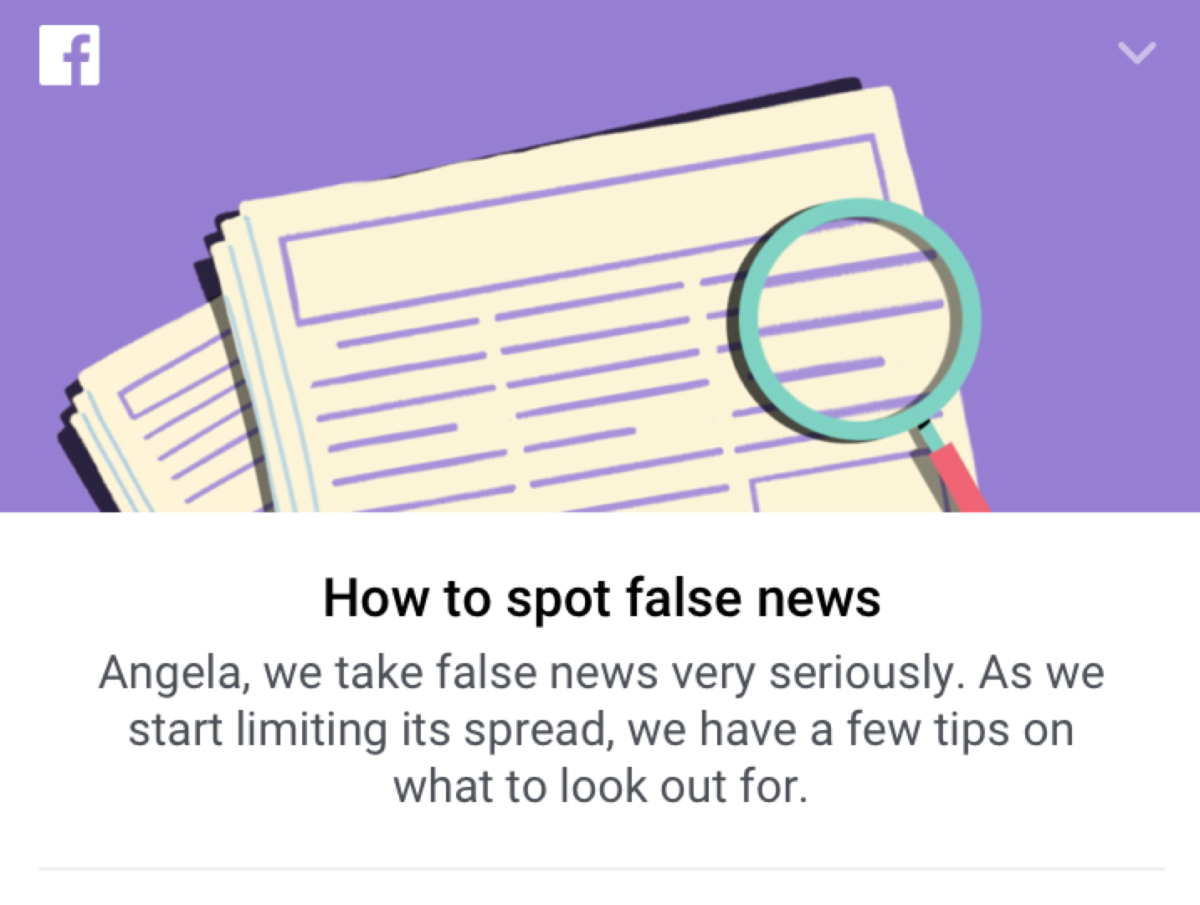 Facebook to share tips for spotting 'fake news' compiled by UK fact-checking charity