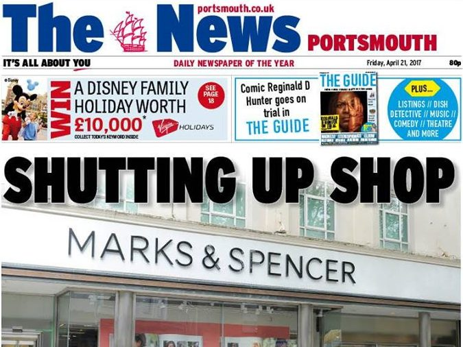 Editor of Portsmouth's The News says falling pound and rising production costs behind cover price hike