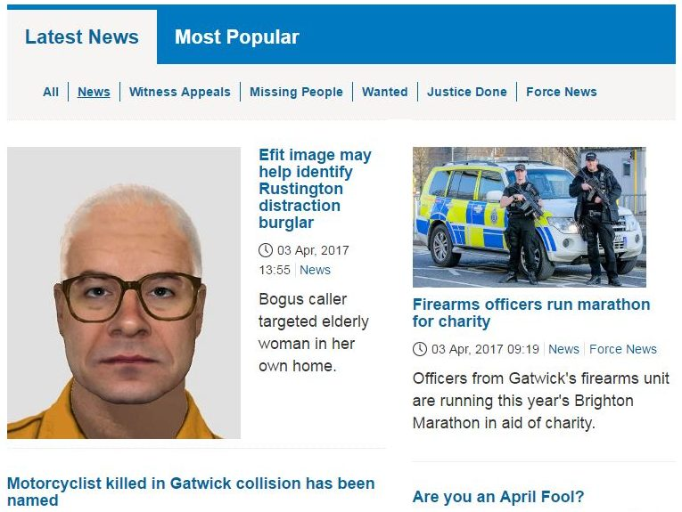 Police broke reporting restriction in story written for force's 'news' website by press officer who didn't attend court