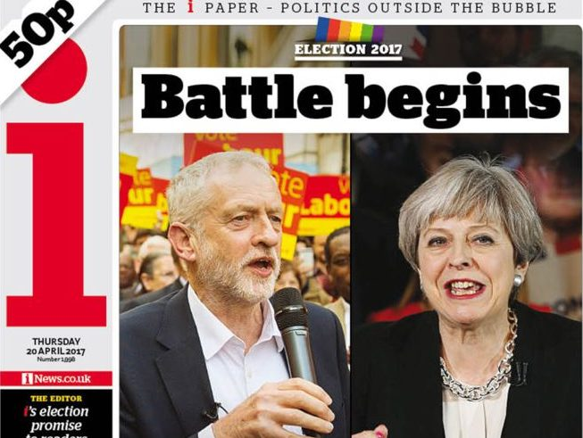 i newspaper pledges no party bias but not 'bland BBC neutrality' in general election manifesto