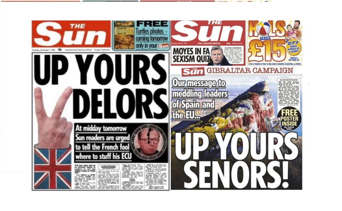 Sun reprises 1990 classic front with 'UP YOURS SENORS' message to Spain over Gibraltar