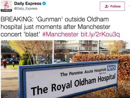 National newspapers caught up in spread of false information online following Manchester bombing
