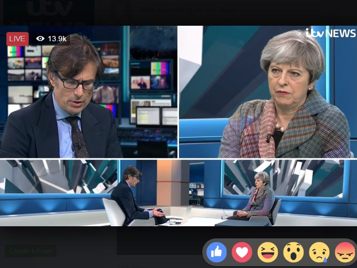 May says fake news 'is a concern' during Facebook Live interview 'first' on ITV News