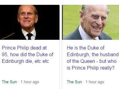 The Sun mistakenly published report of Prince Philip's ...