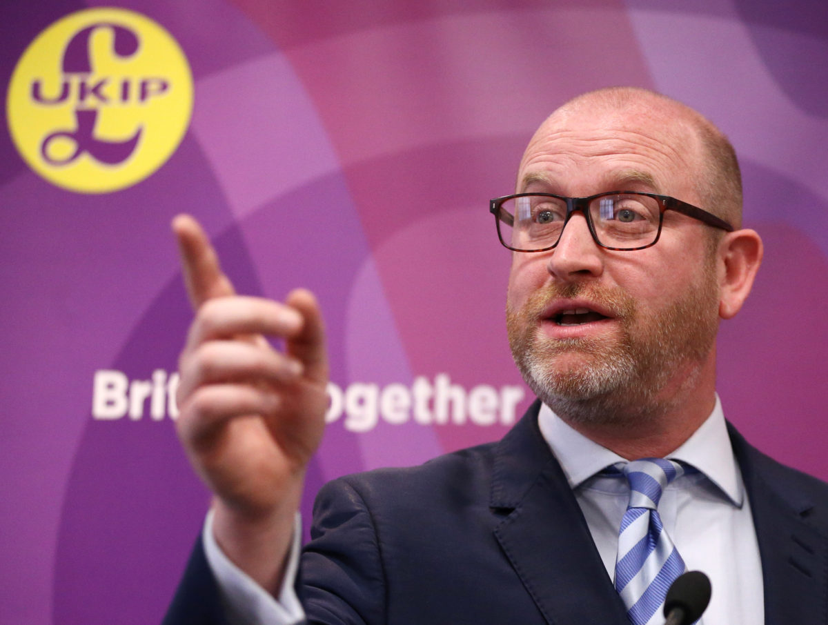 UKIP supporters heckle journalists at party's manifesto launch as it pledges to scrap BBC licence fee