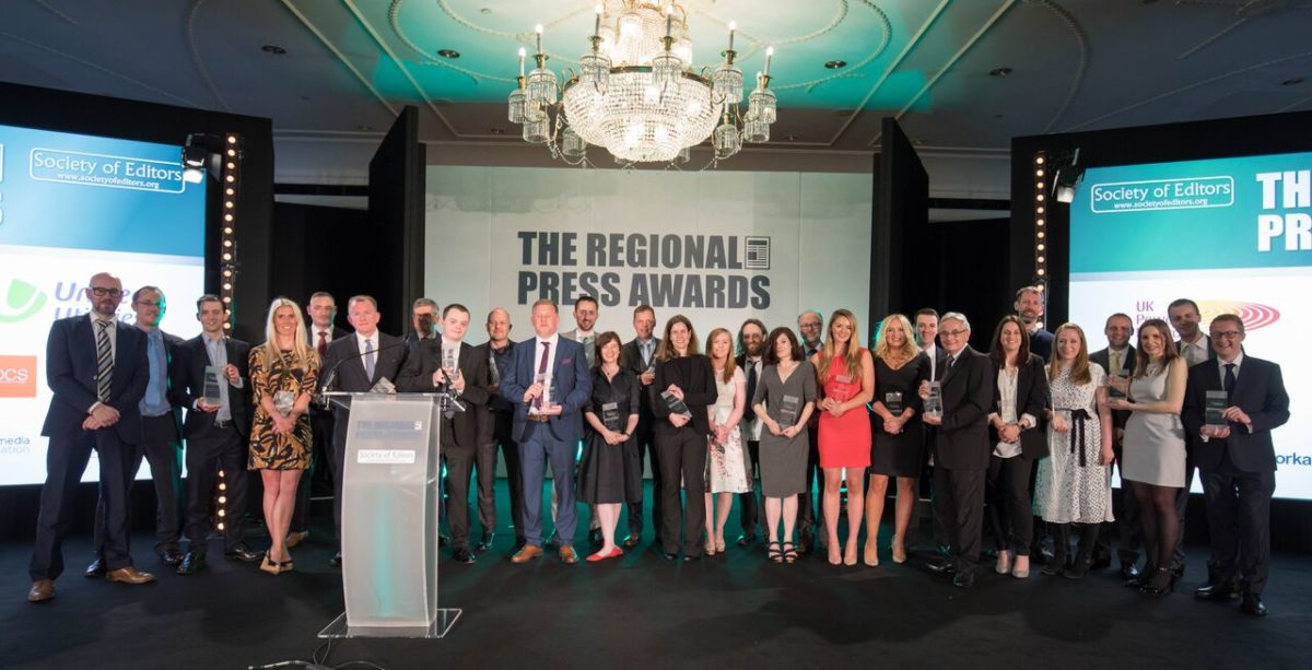 Shortlist announced for the Regional Press Awards covering best in local news from 2017