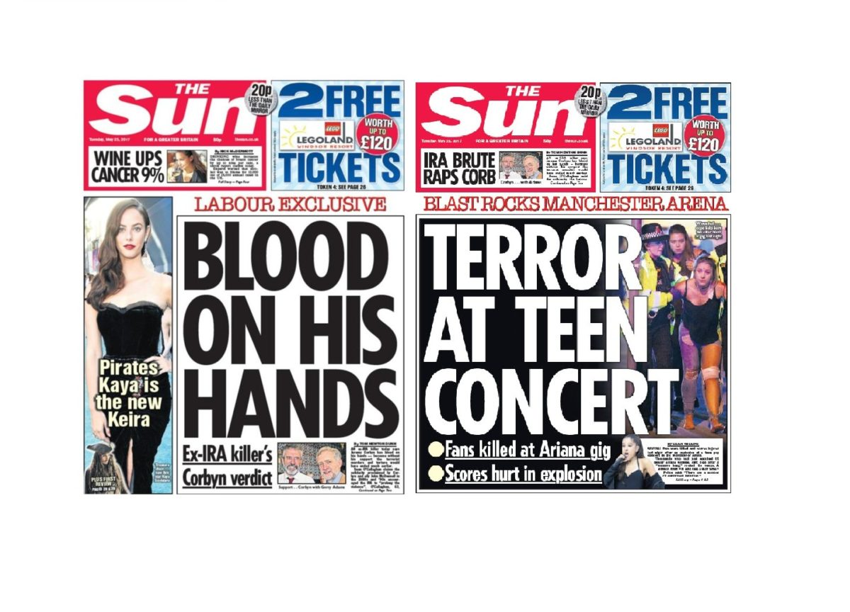 The Sun has 'utmost contempt' for false claims about its front page on day after Manchester attack