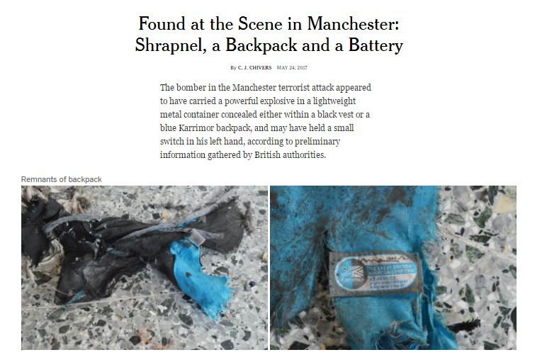 UK police chiefs warn that photos from Manchester bombing scene leaked to New York times undermine investigation