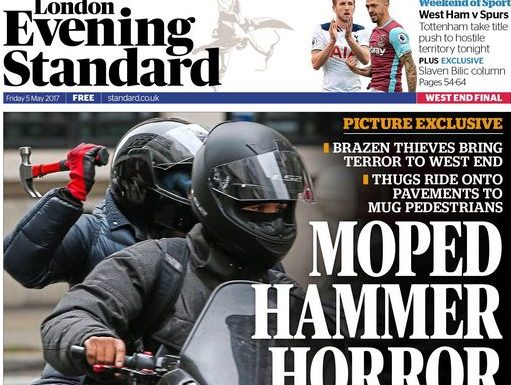 Deaf agency photographer scoops Standard front page with hammer gang pics outside the BBC