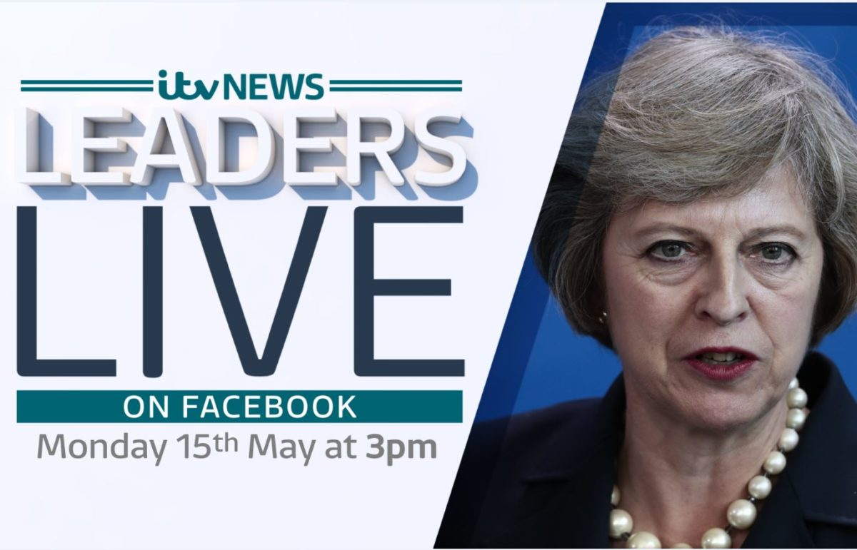 ITV News to quiz Theresa May during 45-minute broadcast on Facebook Live