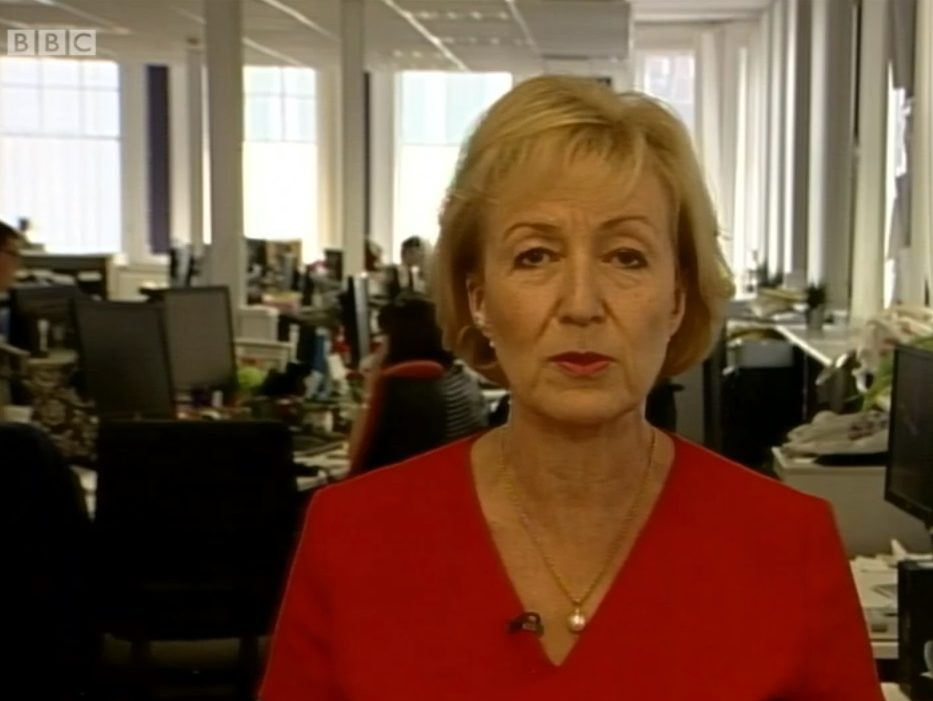'Witless' Andrea Leadsom accused of Soviet-style view with Newsnight call for broadcasters to be 'a bit patriotic'
