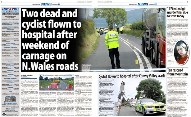 Daily Post editor defends 'carnage' road crash deaths