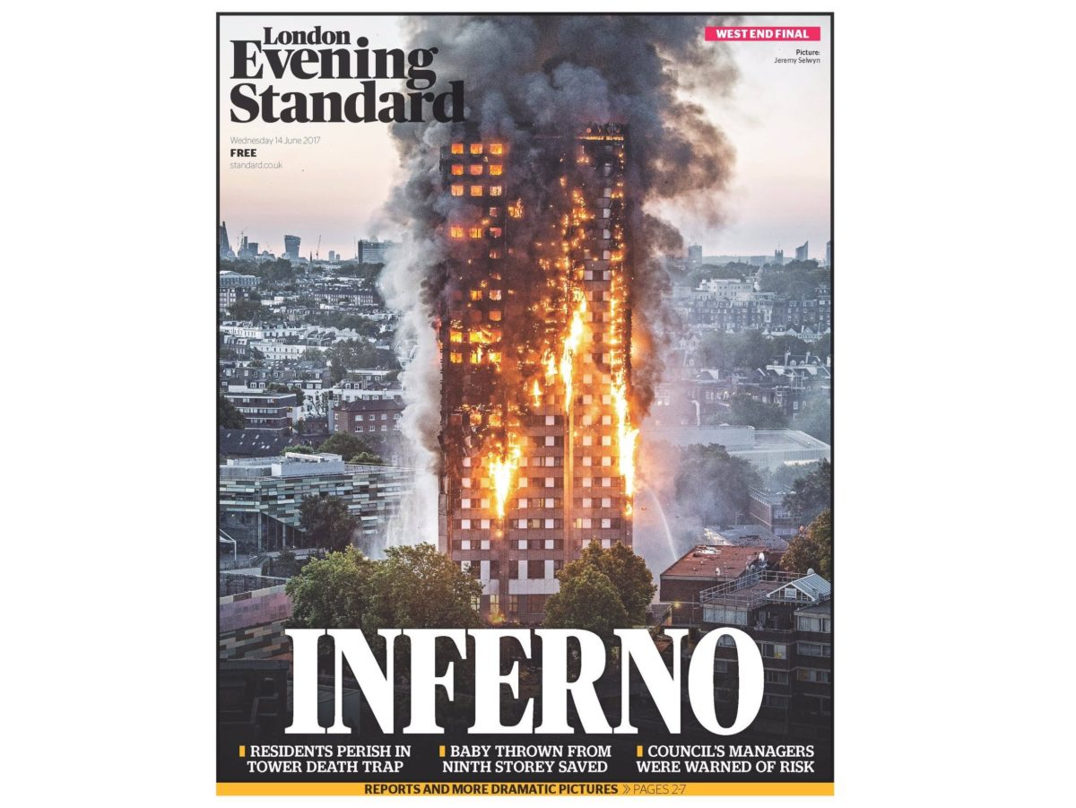 Photographer behind Evening Standard's front page image of London tower block inferno says flats 'went up in front of my eyes'