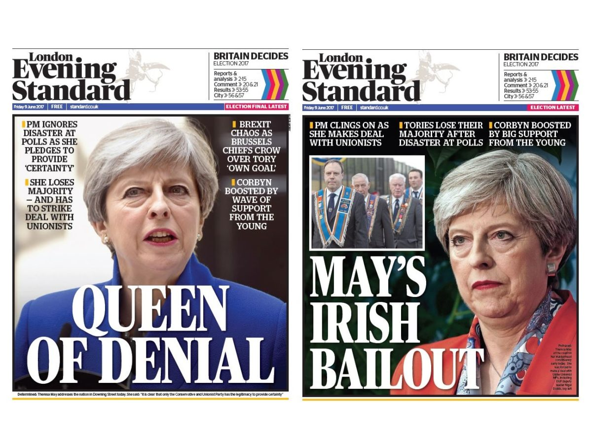 More than 1m copies of Evening Standard's election result editions picked up in record for daily paper