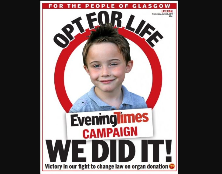 Scotland change to 'opt-out' organ donor system followed six-year Glasgow Evening Times campaign