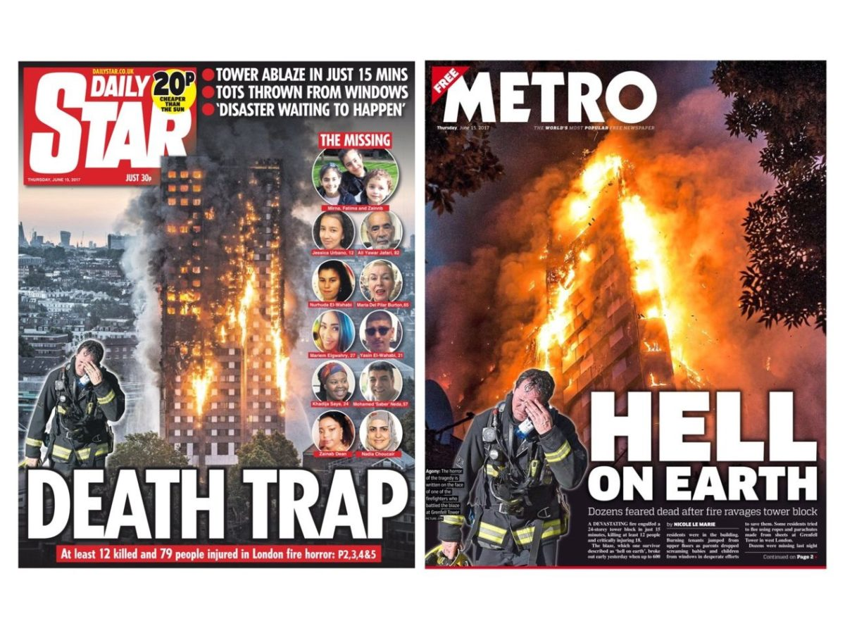 'Hell On Earth': London tower fire disaster dominates national newspaper front pages