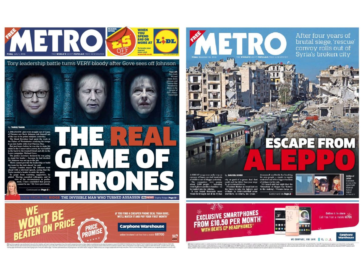 Metro, Sun and Independent are fastest growing national press websites as Mail Online growth stalls