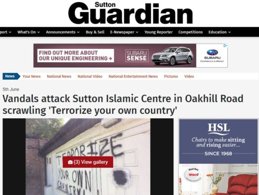Police accuse weekly paper of 'creating platform for racial hatred' over Islamic centre attack story comments